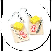 earrings cheese board no. 2