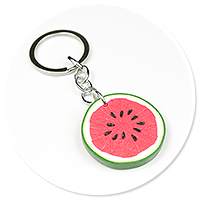 keyring with watermelon