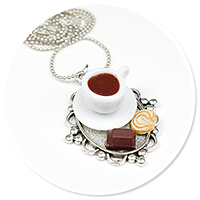 necklace tray with coffee and sweets no. 3