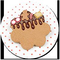 brooch christmas cookie