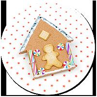 brooch gingerbread house