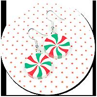 earrings christmas candies