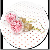earrings christmas glass balls no. 2