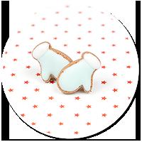 plug-in earrings cookie gloves no. 2