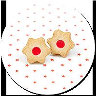 plug-in earrings christmas cookies