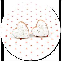 plug-in earrings christmas cookies no. 3