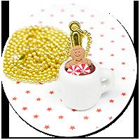 necklace christmas mug of hot chocolate no. 5