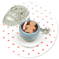 necklace christmas cup of hot chocolate