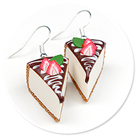 earrings cheese cake (strawberry) no. 2