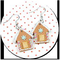 earrings christmas gingerbread houses no. 5