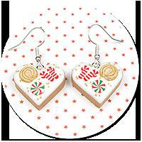 earrings christmas cookies no. 11