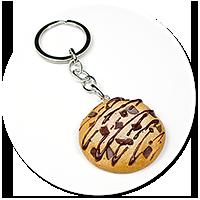 keyring chocolate cookie
