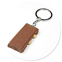 keyring chocolate with nuts