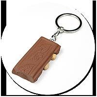 breloczek czekolada z orzechami