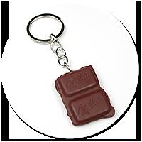 keyring piece of chocolate