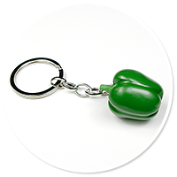 keyring with pepper