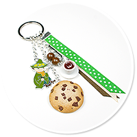keyring with Snufkin and cookie no. 2