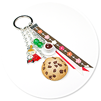 keyring with Little My, coffee and cookie no. 5