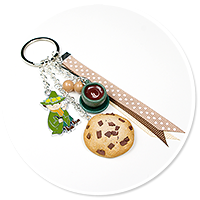 keyring with Snufkin and cookie
