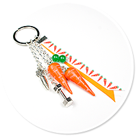 keyring with carrots