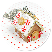 necklace gingerbread house