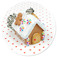 necklace gingerbread house no. 8