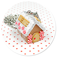 necklace gingerbread house no. 9