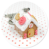 necklace gingerbread house no. 12