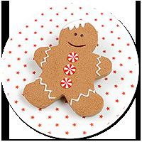 brooch gingerbread man no. 4