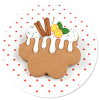 brooch christmas cookie no. 3