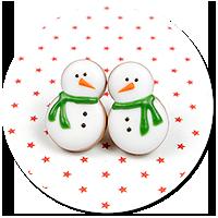 plug-in earrings snowmans no. 2