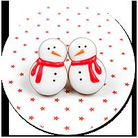 plug-in earrings snowmans no. 4