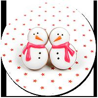 plug-in earrings snowmans