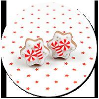 plug-in earrings christmas cookies no. 9