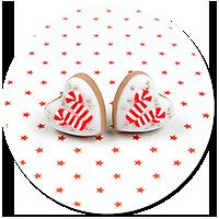 plug-in earrings christmas cookies no. 8