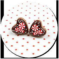 plug-in earrings christmas cookies no. 7