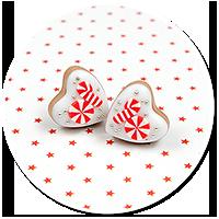 plug-in earrings christmas cookies no. 6
