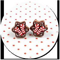 plug-in earrings christmas cookies no. 10