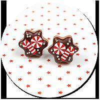 plug-in earrings christmas cookies no. 11