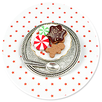 brooch plate with cookies no. 3