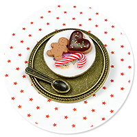 brooch plate with cookies no. 2
