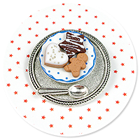 brooch plate with cookies no. 4