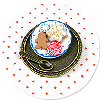 brooch plate with cookies