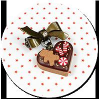 mini brooch christmas cookie no. 3