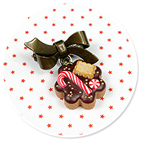 mini brooch christmas cookie no. 6