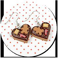 earrings christmas cookies no. 2