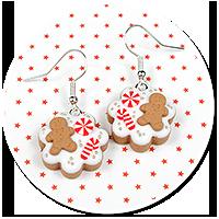 earrings christmas cookies no. 3