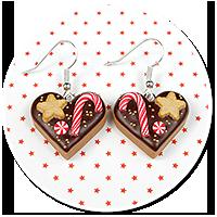 earrings christmas cookies