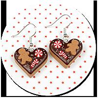 earrings christmas cookies no. 14