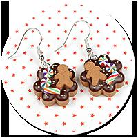 earrings christmas cookies no. 12